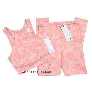 All Fenix Blush Pink Tie Dye Sports Bra & Leggings